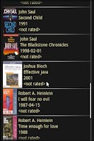 Screenshot of Book Mobile