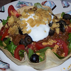 Taco Salad Tortilla Bowl