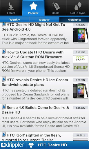 ultimate-htc-desire-hd-app for android screenshot