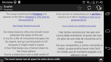 Screenshot of AirLyrics - Lyrics translation