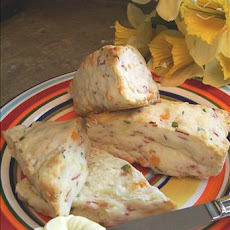 Ham and Cheddar Cream Scones