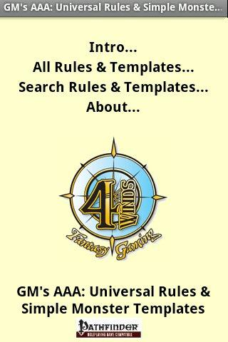 GM's AAA: Rules Templates