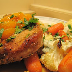 Triple Orange Glazed Pork Chops