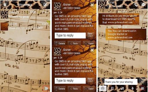 Go sms theme Musical Giraffe