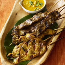 Chicken & Beef Satays with Peanut Sauce