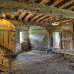 Undercroft by John Walton - Buildings & Architecture Public & Historical ( cellar, beams, stokesay, undercroft, castle, heritagefocus )