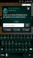 Screenshot of GO SMS Dark Cyan Theme