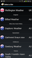 Screenshot of WeatherView Free