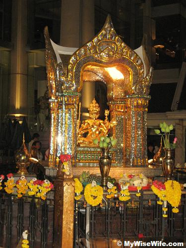 Erawan Shrine at night