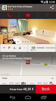 Screenshot of ibis hotel booking