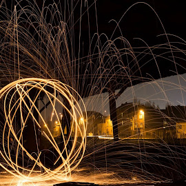 Lightpainting Vilvoorde by Peter Borghs - Digital Art Places