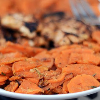 Sweet Potatoes Braised with Rosemary & Milk