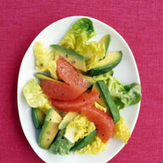 Pink-Grapefruit and Avocado Salad