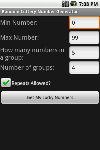 Lottery Number Generator