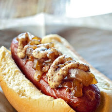 Pepper Weenies with Smoked Bacon & Vidalia Onion Marmalade