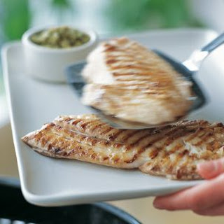 Snapper with Green Olive Tapenade