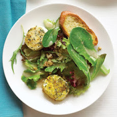 Baked Goat Cheese with Spring Lettuce Salad