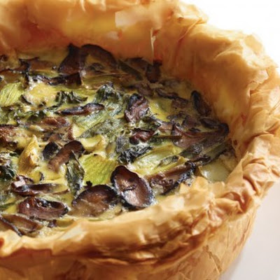 Bok Choy and Shiitake Quiche