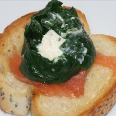 Cheese and Spinach Roulade Bruschetta