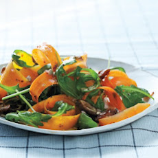 Shaved-Butternut-and-Carrot Salad with Dates and Sunflower Seeds