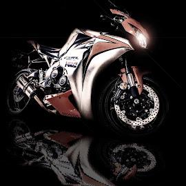 by Jesse Rodriguez Jr - Transportation Motorcycles ( t3i, motorcycle, sport, black )