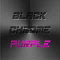 Free Download BLACK CHROME PURPLE LAUNCHER APK for Samsung