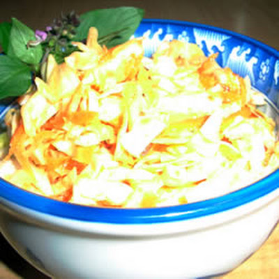 Quick and Easy Thai Style Coleslaw