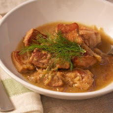 Cider-Braised Pork Shoulder with Fennel and Apple