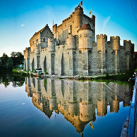 A million pieces by Bobo Chuckleworth - Buildings & Architecture Public & Historical ( water, reflection, europe, flemmish, castle, belgium, chateau, historic, belgian )