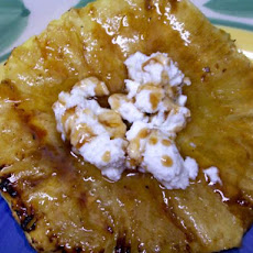 Roasted Pineapple W Balsamic Glaze Honey & Fresh Goat Cheese