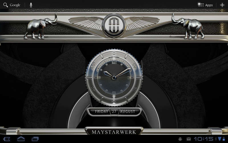 Clock Widget Black Elephant Screenshot 4