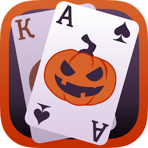cover art solitaire game halloween