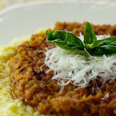 Soft Polenta with Sweet Tomato Sauce