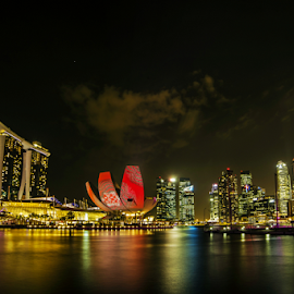i Light Marina Bay by Mike S Candleghost - Buildings & Architecture Public & Historical ( mike s, i light marina bay, event, night, scenery, nikon, light, d3s )