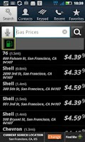 Screenshot of PhoneTell Search & Gas Prices