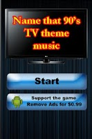 Screenshot of 1990's TV Theme Music Trivia