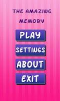 Screenshot of The Amazing Memory Game