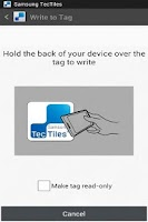 Screenshot of Samsung Tectiles