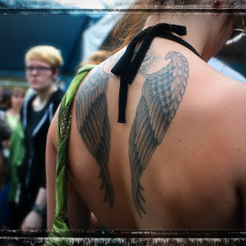 by Tinker's Realm - People Body Art/Tattoos ( urban, tattoo #6, tattoo show, another angel, street photography, person, people, tattoo )