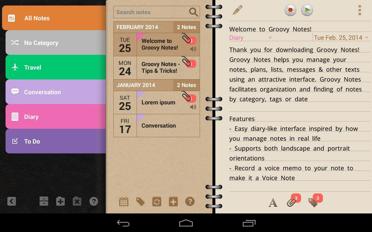 Groovy Notes - Personal Diary Screenshot 16