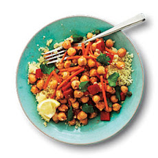 Cumin-Spiced Chickpeas and Carrots on Couscous