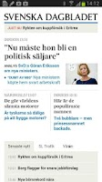 Screenshot of Svenska Dagbladet
