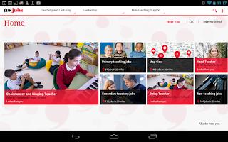 Screenshot of TES Jobs