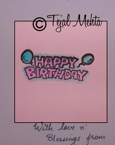 Creative Expressions Tilda Birthday Card