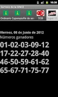 Screenshot of Sorteos de la ONCE