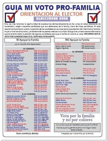 Guia de votar en Puerto Rico 2008