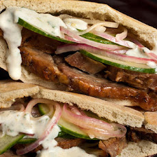Lamb Pitas with Cucumbers and Yogurt Sauce Recipe