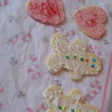White Velvet Cutout Cookies