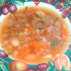 Low Fat Butter Bean and Ham Soup