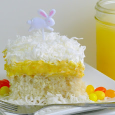 Orange Creamsicle Poke Cake